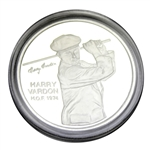 Harry Vardon One Troy Ounce Fine Silver PGA Tour HOF 1974 Commemorative Medal with Certificate - Scarce