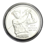 Ben Hogan One Troy Ounce Fine Silver PGA Tour HOF 1974 Commemorative Medal with Certificate