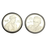 Bob Hope & Bing Crosby Fine Silver PGA Tour HOF Commemorative Medals with Certificates
