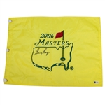 Gary Player Signed 2006 Masters Embroidered Flag BECKETT #C11964