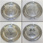 Four Walter Hagen Invitational Pewter Plates