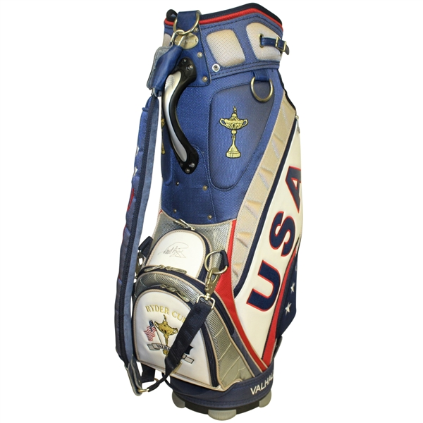 Paul Azinger (Captain) Signed Vice Captain Ray Floyd's 2008 Ryder Cup USA Team Golf Bag JSA ALOA