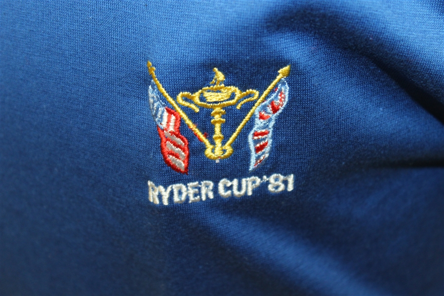 Ray Floyd's 1981 Ryder Cup USA Team Issued Cotton Uniform Blue Shirt