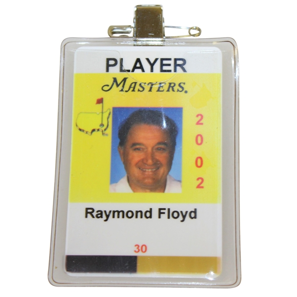 Ray Floyd's Masters Tournament Player Identification Badge - 2002