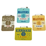 1984, 1987, 1988, & 1989 Masters Tournament Badges from Ray Floyd Collection