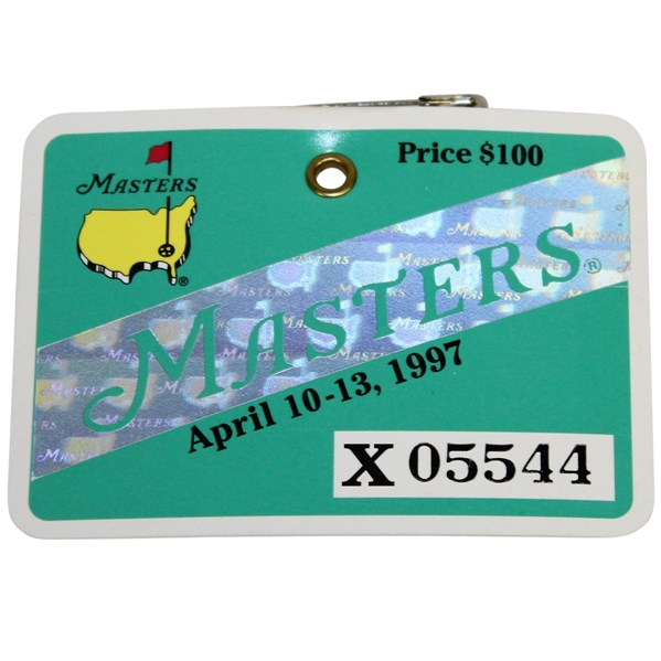 1997 Masters Tournament Badge #X05544 from Ray Floyd Collection