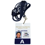 Ray Floyds 2004 Ryder Cup at Oakland Hills All Access Pass/Badge with Lanyard