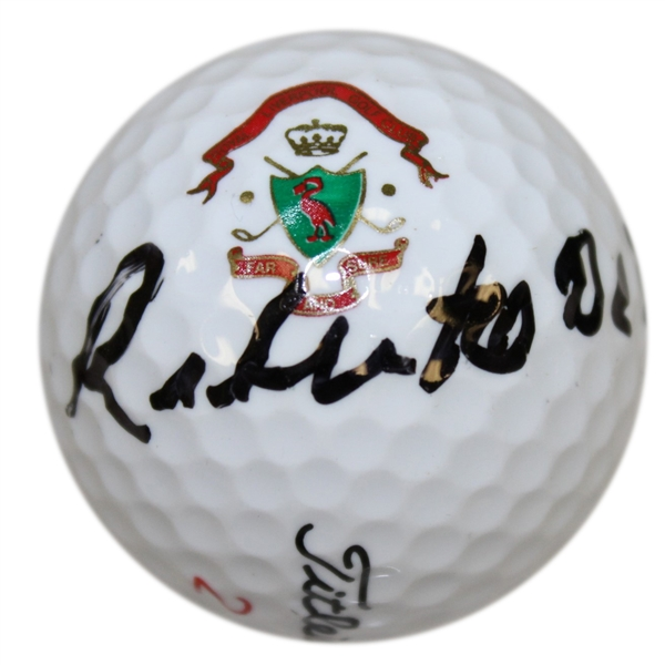 Roberto de Vicenzo Signed Royal Liverpool Golf Club Logo Golf Ball JSA ALOA