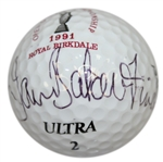 Ian Baker-Finch Signed 1991 Royal Birkdale OPEN Logo Golf Ball JSA ALOA