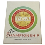 Jack Nicklaus Signed 1971 PGA Championship at PGA National Program JSA ALOA