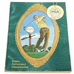 Al Geiberger Signed 1966 PGA Championship at Firestone CC Program JSA ALOA