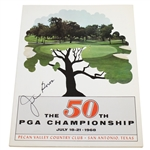 Julius Boros Signed 1968 PGA Championship at Pecan Valley CC Program JSA ALOA