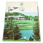 Dave Marr Signed 1965 PGA Championship at Laurel Valley GC Program JSA ALOA