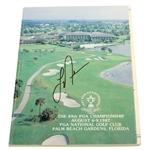 Larry Nelson Signed 1987 PGA Championship at PGA National Golf Club Program JSA ALOA