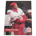 Payne Stewart Signed 1992 PGA Tour Pro Set Golf Card JSA ALOA