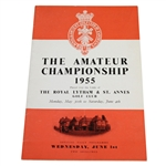 1955 British Amateur at The Royal Lytham & St. Annes GC Program - Wednesday