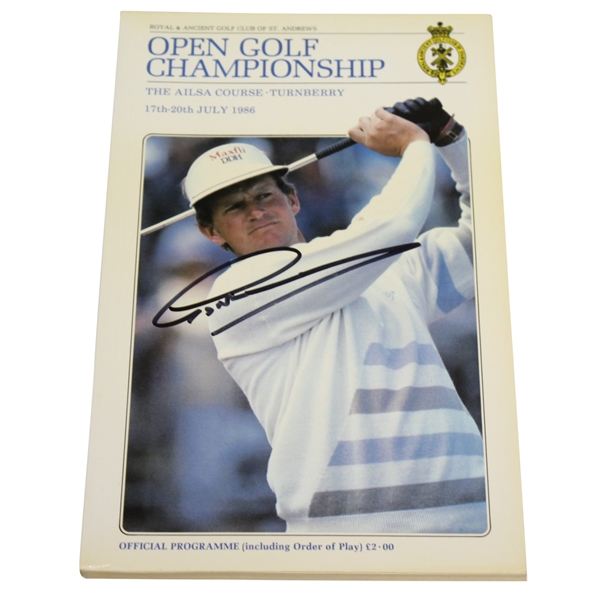 Greg Norman Signed 1986 OPEN Championship at Turnberry Program JSA ALOA