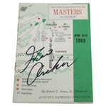 George Archer Signed 1969 Masters Tournament Spectator Guide JSA ALOA