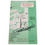 Bernhard Langer Signed 1985 Masters Tournament Spectator Guide JSA ALOA