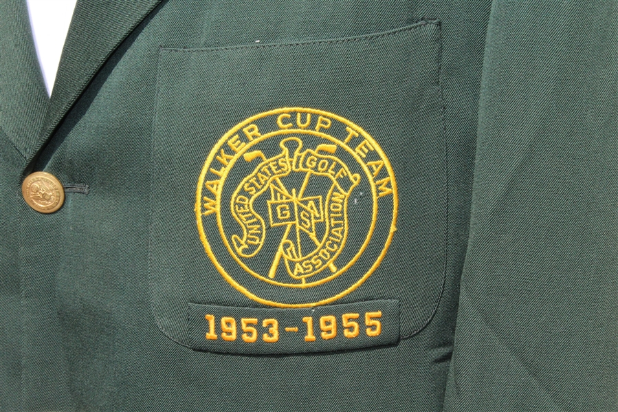 Don Cherry's Personal 1955 Walker Cup Team Green Jacket