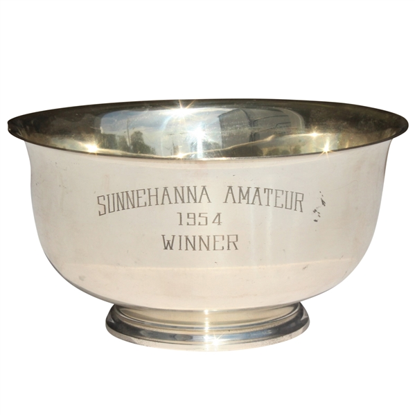Don Cherry's 1954 Sunnehanna Amateur Champions Sterling Silver Bowl - Inaugural Event