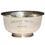 Don Cherrys 1954 Sunnehanna Amateur Champions Sterling Silver Bowl - Inaugural Event