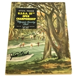 Jack Fleck Signed 1955 US Open Championship at Olympic Club Official Program JSA ALOA