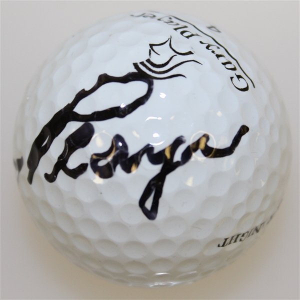 Gary Player Signed 'Black Knight' Logo Golf Ball JSA ALOA