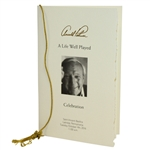 Arnold Palmer Memorial A Life Well Played Funeral Service Program with Original String