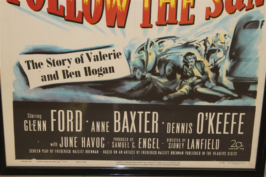 Authentic 'Follow the Sun' Ltd Ed Theatrical Release Movie Litho-Poster Framed