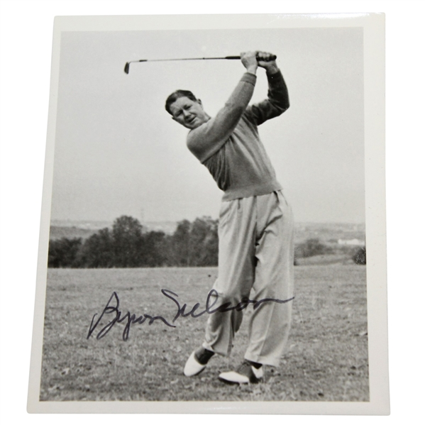 Byron Nelson Signed Black & White 4x6 Photo - Post Swing JSA ALOA