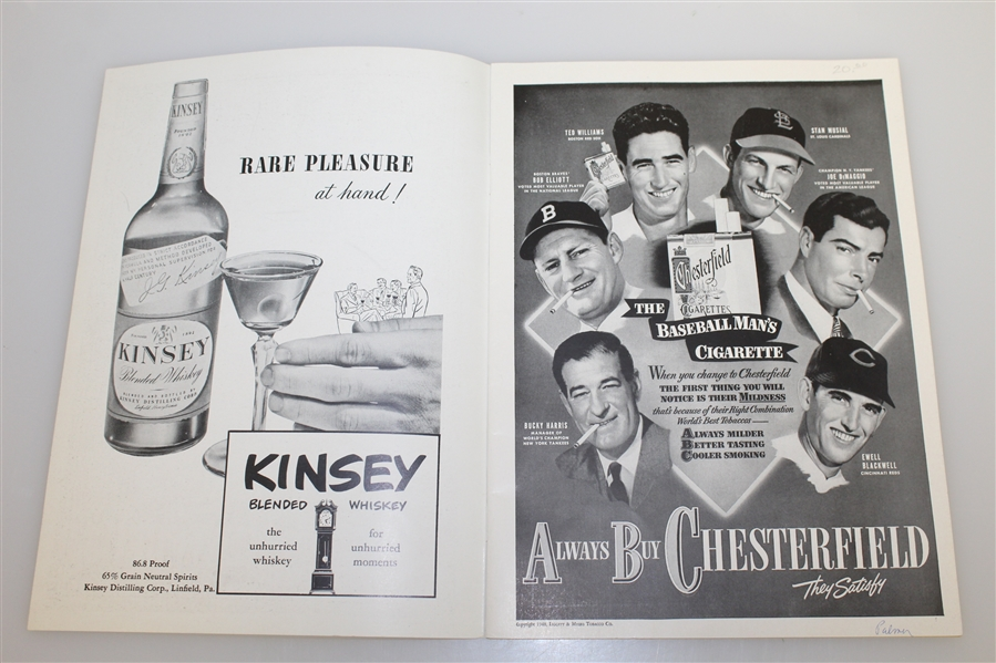 Johnny Palmer Signed 1948 Philadelphia 5th Annual Inquirer Inv. Program JSA ALOA