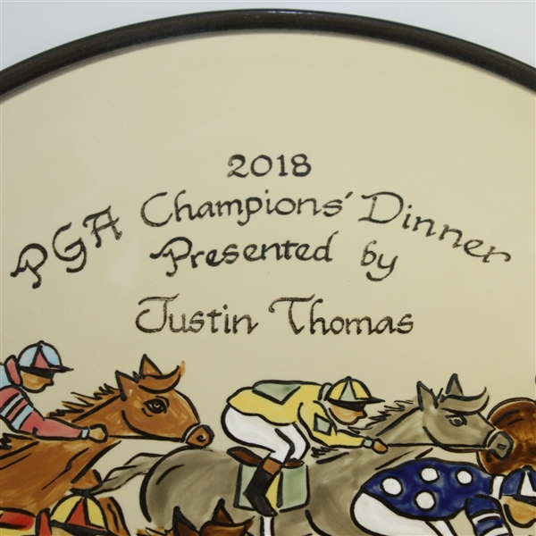 2018 PGA Champions' Dinner Gift from Justin Thomas - Plate Given to Past Champions