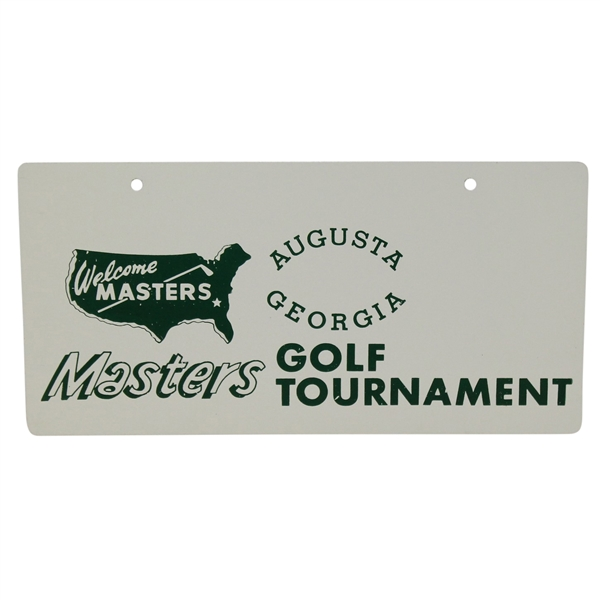 Classic Masters Golf Tournament Courtesy 'Welcome' License Plate