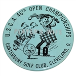 1946 US Open at Canterbury GC Players Wife Badge - Lloyd Mangrum Winner