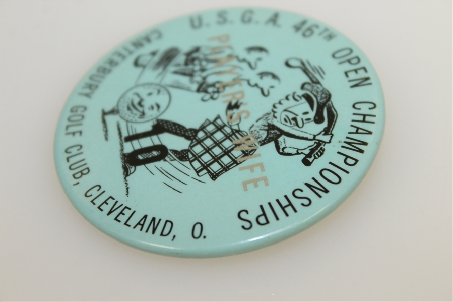 1946 US Open at Canterbury GC Player's Wife Badge - Lloyd Mangrum Winner
