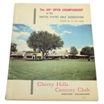 1960 US Open at Cherry Hills CC Official Program - Arnold Palmer Winner