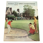 Billy Casper Signed 1959 US Open at Winged Foot Golf Club Program JSA ALOA
