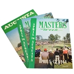 1964, 1965, & 1966 Masters Week April in Augusta Magazine Publications