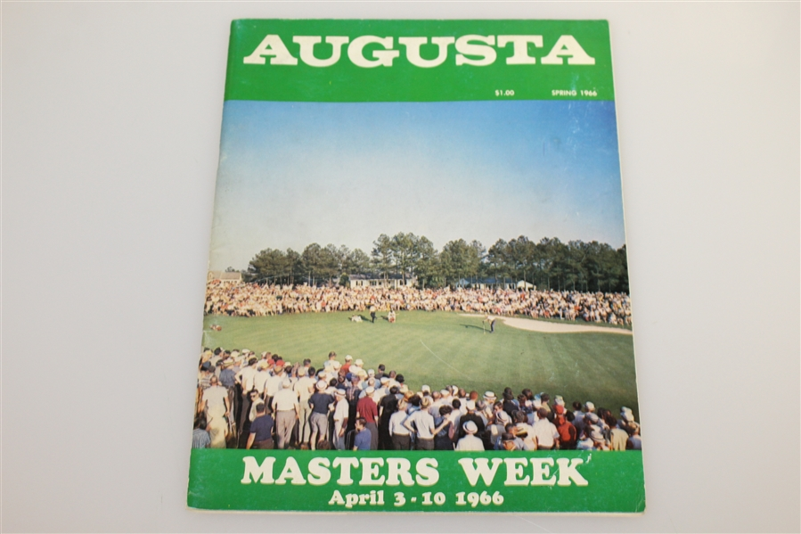 1964, 1965, & 1966 Masters Week 'April in Augusta' Magazine Publications