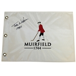Tom Watson Signed Muirfield 1744 Embroidered Flag with 1980 Notation JSA ALOA