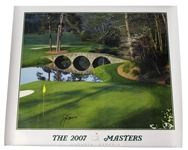 Jack Nicklaus Signed 2007 The Masters 12th Green Poster JSA ALOA