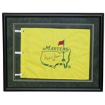 Mark OMeara Signed Masters Undated Flag with 98 Notation - Framed JSA ALOA