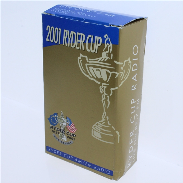 2001 Ryder Cup Am/Fm Radio - Event Changed to Following Year