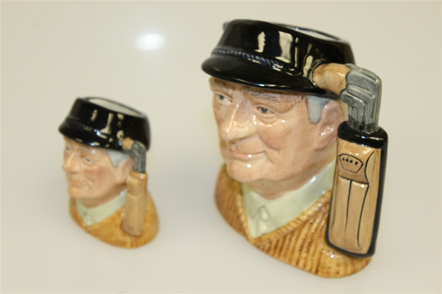 Two 1970 Royal Doulton 'Golfer' Mugs