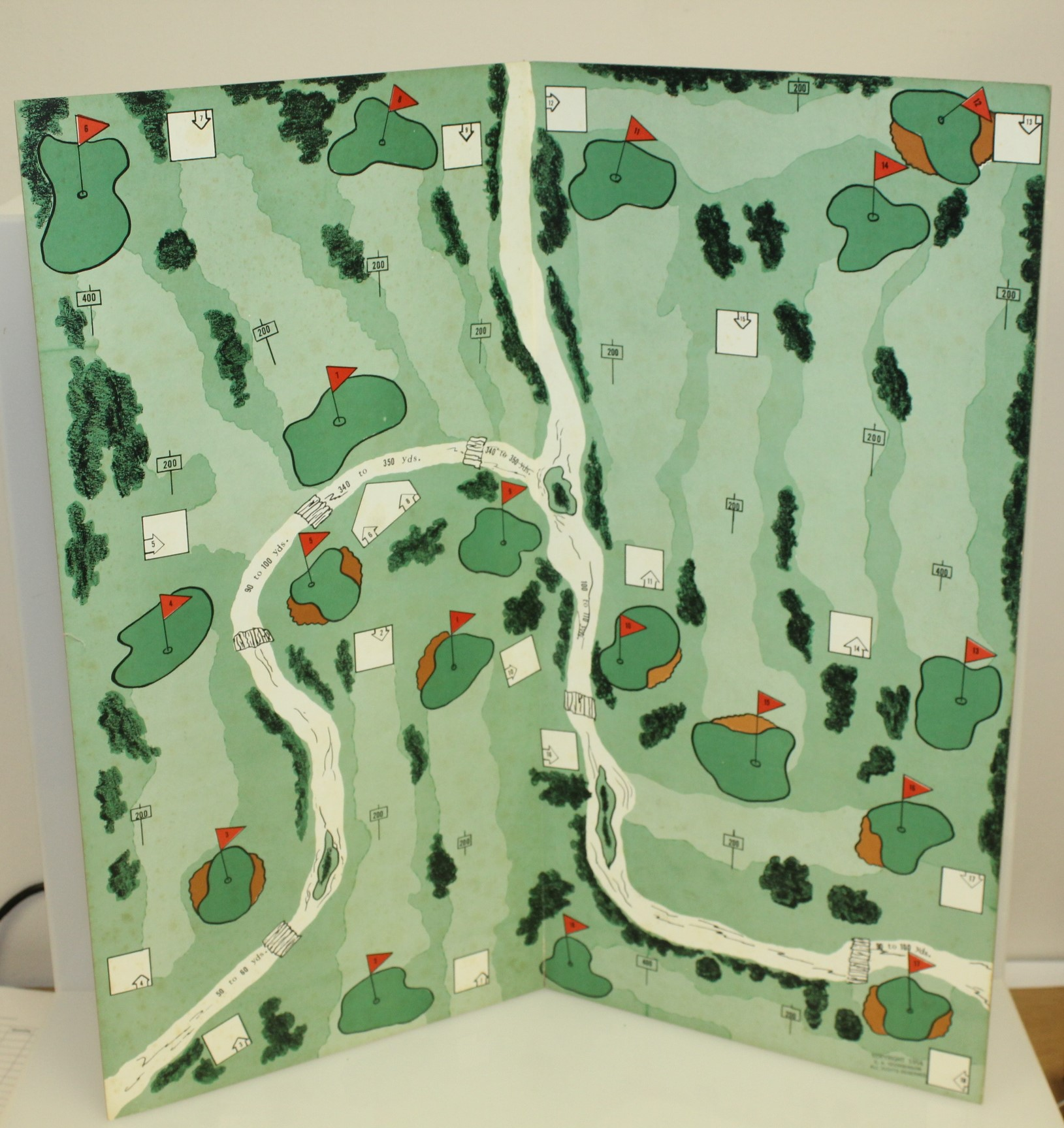 ... 1954 Vintage 'Tee Off' Parlor Golf Game in Original Box with All  Components ...