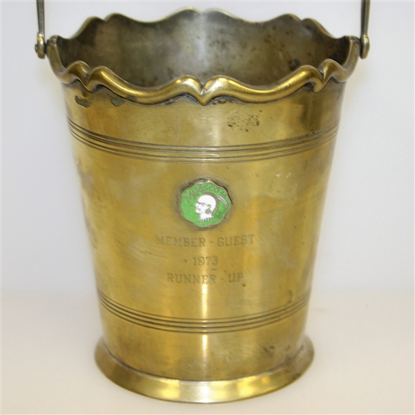1973 Mt. Kisco Country Club Member-Guest Runner-Up Bucket - Roth Collection