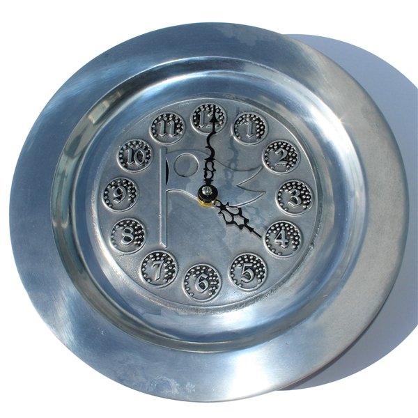 Golf Themed Pewter Golf Clock By Olde Country