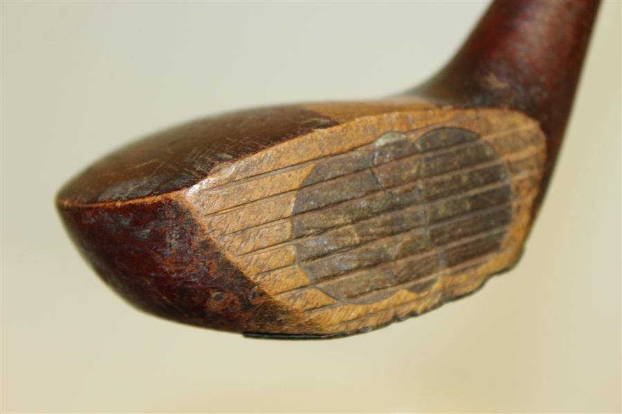 Vintage Hickory Driver - 'D' - Unique Face Inserts and Sole Plate - Roth Collection