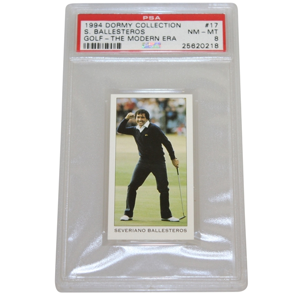 Seve Ballesteros 1994 Dormy Collection 'The Modern Era' Golf Card #17 PSA/DNA NM-MT 8 #25620218